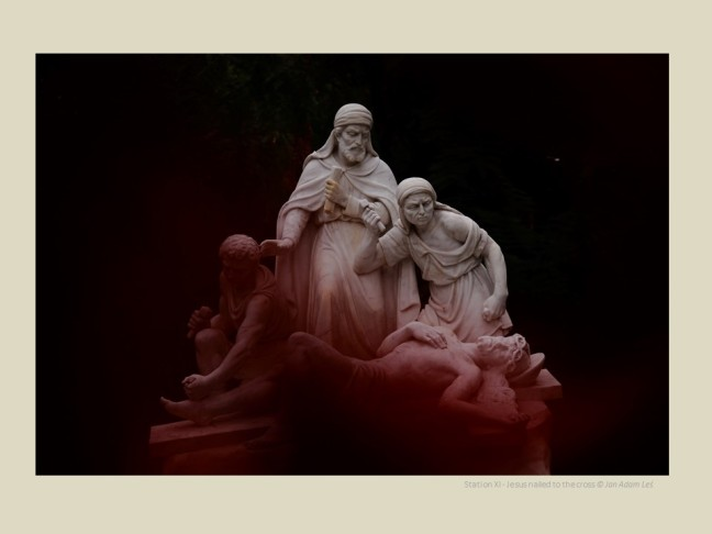 Station XI - Jesus nailed to the cross